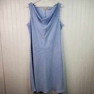 Expressions Blue White Gingham Sleeveless Dress